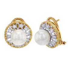 Orecchini con diamanti perla colore fantasia