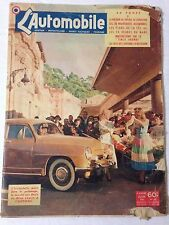 L'AUTOMOBILE N°62 JUIN 1951 COUV ARONDE