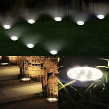 12 LED Solar Power Buried Light Under Ground Lamp Outdoor Garden Decking A4K8