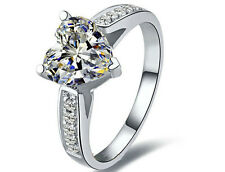2Carat Vintage Heart Shape Diamond Women Solid White Gold 14K Engagement Ring