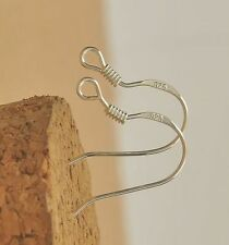 WHOLESALE 50pc 19mm Sterling 925 Silver Plated Earring Hooks Ear Wires!!
