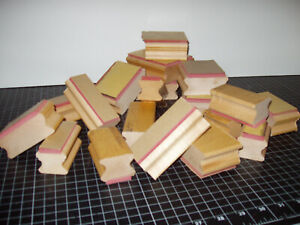 Blank, DIY Craft Rubber Stamp Wood Mounting Blocks; lot of 20 in assorted sizes!