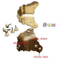 3.6cm Vintage Brass WrapAngleFurniture,Corner Code Door//Jewelry Box Protection