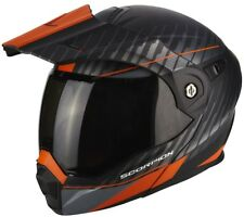 Scorpion ADX 1 Dual Matt Goldange Motorcycle Helmet Black/orange Size XL