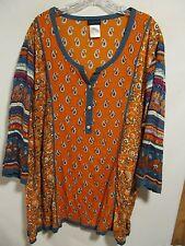 Ulla Popken women plus size 20/22 Multicolor short sleeve Lot#12