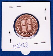 ISLAND Iceland coin -  5 Aurar 1946 Bronze !