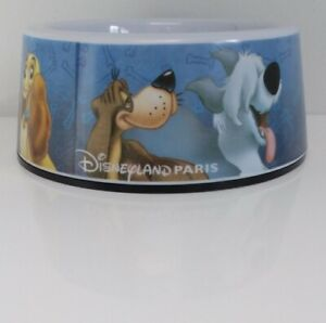 Melamine Dog Bowl Disney Disneyland Paris Lady Tramp 101 Dalmatians Pluto Bolt