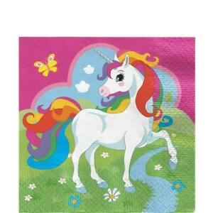 NEW Unicorn Luncheon Paper Napkins - 33cm (20 pack) Partyware Gifts School