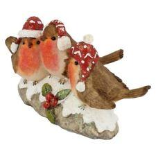 Statuine rosso natale in ceramica per l'albero di Natale