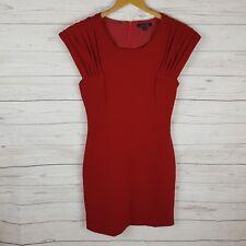 Evolve Dress Size 8 Red Short Sleeve