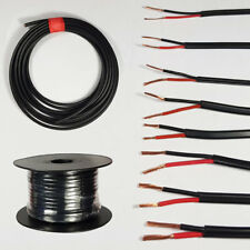 AUTOMOTIVE TWIN CORE CABLE 12V 24V 2 ROUND THINWALL RED/BLACK AUTO WIRE WIRING