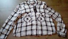 Ladies Marks & Spencer check blouse button up size 16 BNWT M&S long sleeved *^