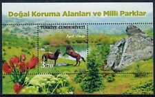 Turkey 2017 Horses on Pretty National Parks Miniature Sheet MNH