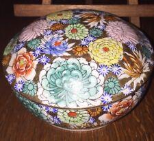 Japan Kutani china porcelain Hand Painted lidded Round Box
