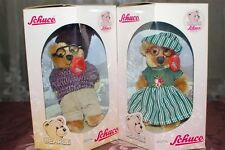 Schuco Bearli Grandpa Grandma Opa Oma Bears Collectible Mohair NIB Set of 2