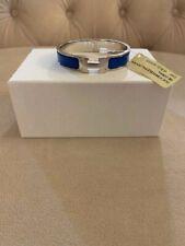 Hermes Clic H Enamel Bracelet Royal Blue Bleu Intense Silver Sz Pm NWT LIMITED!!