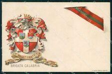 Militari Reggimentali 59º Reggimento Fanteria Brigata Calabria cartolina XF5139