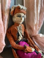 1920s Boudoir Doll French Marquis - Sofa Puppe - Poupee De Salon