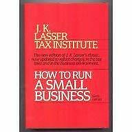How to Run a Small Business Hardcover J. K. Lasser
