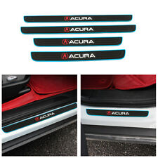Blue Border Rubber Car Door Scuff Sill Cover Panel Step Protector For ACURA