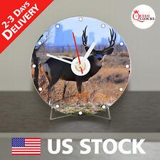 NEW Mule Deer CD Clock Colorado Elk hunt Montana Handmade browning antler doe US
