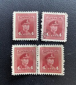 Canada Canadian War Stamps #281 George VI