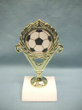 Soccer ball gold trophy marble base
