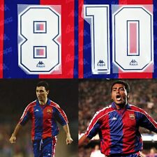 1992-95 Barcelona KAPPA Number #10 Romario #8 Stoichkov for Shirt Jersey