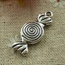 free ship 60 pieces tibetan silver candy charms 27x12mm #3064