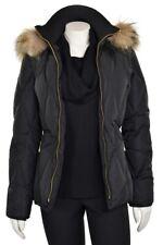 *THE WARMEST!* St John Knits Black Down Filled Fur Puffer Jacket Coat Vest sz XS