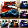 3D Galactic Starry Sky Bedding Set Duvet Cover Comforter Cover Pillow Case