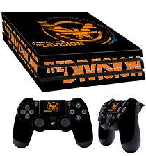 PS4 PRO Piel Tom Clancy The Division Negro pegatina logo + 2x Pad vinilo LAY