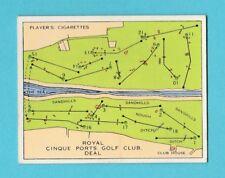 GOLF - PLAYERS - CHAMPIONSHIP GOLF COURSES CARD -  ROYAL  CINQUE  PORTS  -  1936