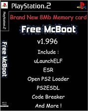 Free McBoot FMCB 1.966 Sony PlayStation 2 PS2 8 Mb Memory Card opl mc boot PS 2
