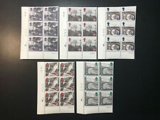 Gb Qeii Sg 1795 -1799 Railway Engines Set Cylinder Blocks of 6 1992 Stamps Mnh