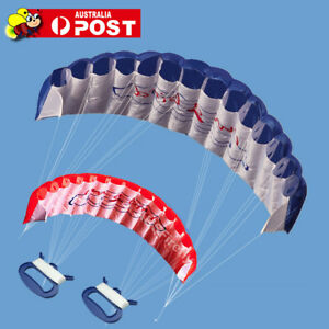 1.4m Power Frameless Parafoil Stunt Outdoor Sport Beach Kite Twin Dual Line Toy