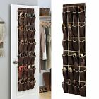 24 Pocket Over the Door Shoe Organizer Space Saver Rack Wall Hanging Storage Bag