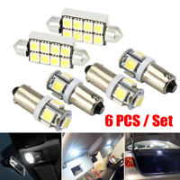 6X LED Interior Light Bulbs For Audi  S3 8L A3 8P 8PA A4 B6 B7 A6 C6 4F C5 A8 D2
