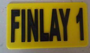 3D Printed personalised plate - Little Tikes police Cozy COUPE CAR TAXI CAB