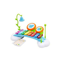 Early Education Baby Toy Rainbow Xylophone Piano Bridge with Ringing Bell Drums