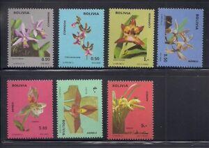 Bolivia   1974   Sc # 558-60,C327-30   Orchids   MNH   (54133)