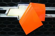 Chevy Vinyl Sheet x2 fits Chevy Bowtie Emblem Logo BrightOrange Decal U-CUT Trim