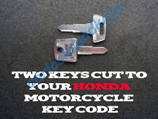 2002-2009 Honda VTX 1300, 1800 Motorcycle Keys Cut By Code -2 Working Keys