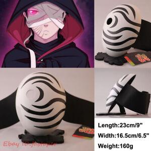 """Uchiha Obito Mask Naruto Mask Tobi Cosplay FRP White Color Mask Length 23cm/9"""""""