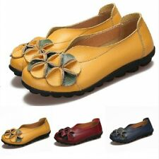 Women Ethnic Style Handmade Flower Pull On Shoes Soft Loafers Outdoor Comfort B