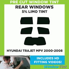 Pre Cut Window Tint - Hyundai Trajet MPV 2000-2008 - 5% Limo Rear