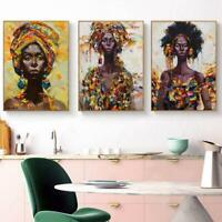 Graffiti African Girl Poster Canvas Art Prints , Watercolor African Woman Portra