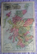 La Scozia, anni 1890 Gate Mappa PIEGA