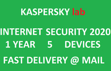 Kaspersky Internet Security 2020 5 Devices/1 Year|Global key|Sent @ ebay message