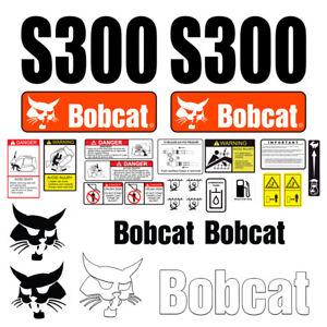 Bobcat S300 Skid Steer Set Vinyl Decal Sticker - 25 PC - FREE SHIPPING